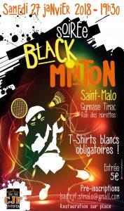 Soirée Blackminton 2018 du CJF Badminton Saint-Malo