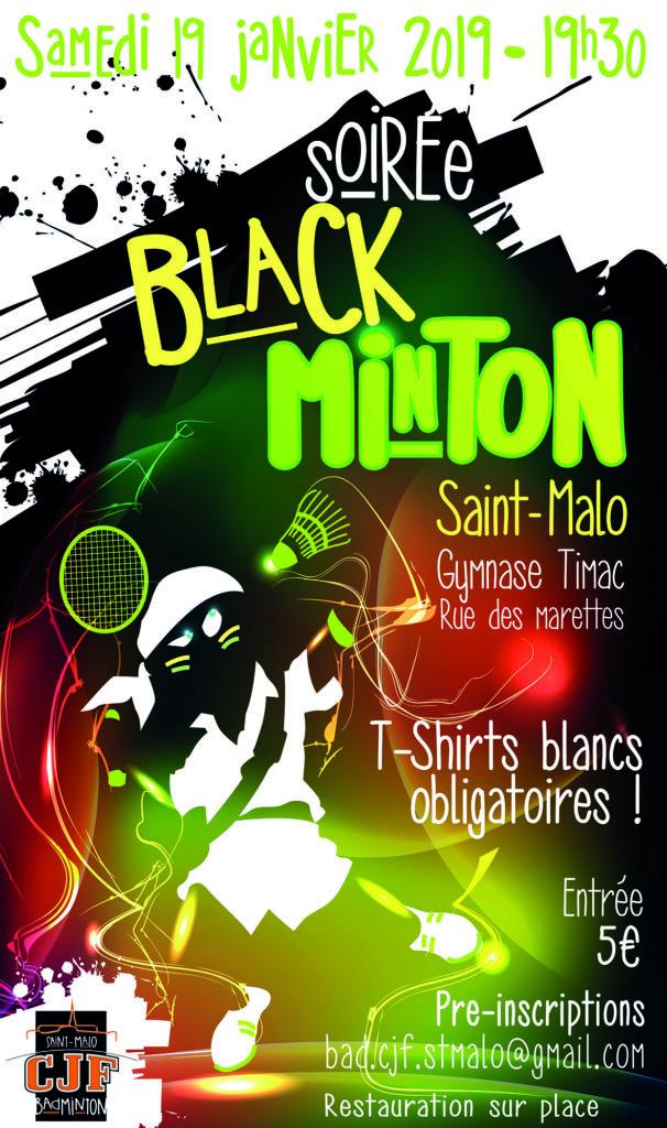 Soirée Blackminton CJF Saint-Malo