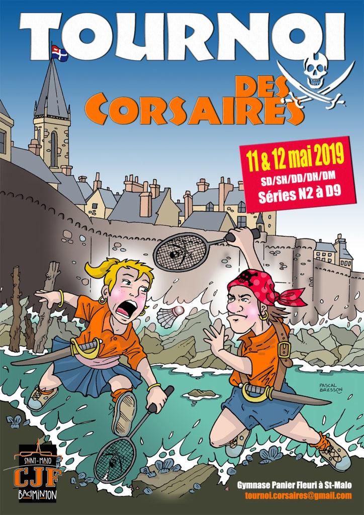 Affiche Tournoi des Corsaires 2019
